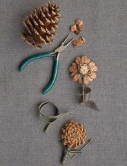 Diy pinecone bouquet wedding inspiration pine cone crafts, p Fall Crafts, Holiday Crafts, Crafts To Make, Arts And Crafts, Pine Cone Crafts For Kids, Snowman Crafts, Diy Crafts, Pine Cone Art, Pine Cones