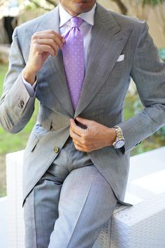 pictures of men's wedding suits Mens Fashion Suits, Mens Suits, Wedding Men, Wedding Suits, Skinny Ties, Suit And Tie, Gentleman Style, Striped Linen, Mode Style