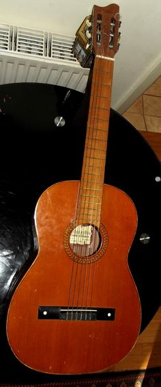 Vintage Jose Mas Y Mas Classical Guitar - Made in SPAIN Valencia. Need small restoration by BountyFromThePast on Etsy
