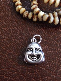 1 BUDDHA charm for for mala or necklace #Buddha #charm #beads #etsy