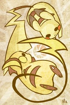 Pikachu and Raichu by IdentityPolution on DeviantArt Pokemon Show, Pokemon Fan Art, Cute Pokemon, Pichu Pikachu Raichu, Original Pokemon, Pokemon Special, Pokemon Images, Funny Art, Manga