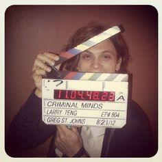 Criminal Minds    Peek-a-boo! On Criminal Minds set w/ @Sterling Pickett Fletcher 2day filming for the new season!