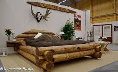 IN LOVE WITH THIS BED! This rustic style bed is a beautiful piece of log furniture. Hand-crafted, it is really a very unique piece.