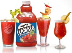 If it's not made with Clamato Juice it is not a Caesar. Tomato juice has no clam juice in it. Glasses must be rimmed with Caesar Salt. Use only the best Vodka. Lime slice and Celery stalk a must Bloody Mary Recipe With Clamato, Bloody Mary Recipes, Brunch Drinks, Fun Drinks, Beverages, Cocktails, Party Drinks, Mixed Drinks, Canadian Things