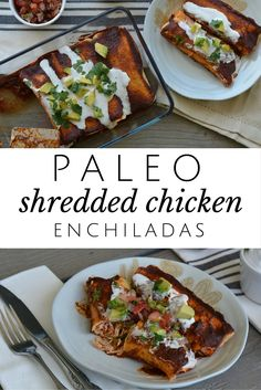 I could seriously eat these every day!! Shredded chicken and a killer homemade enchilada sauce.