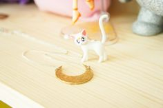 Shrink plastic moon necklace tutorial, Sailor Moon inspired necklace by thepinksamurai