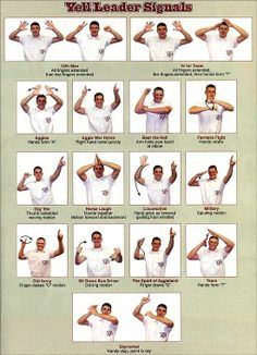 Aggie Yell Leader signals