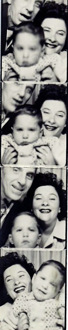 ** Vintage Photo Booth Picture **   Just goes to show that it doesn't matter what year it is or where the picture is taken; getting a decent shot of the family is a trial and a tribulation! ;)