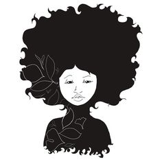 Afro: Stickers | Redbubble