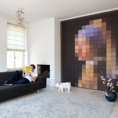 Girl With A Pearl Earring :: tile wall mural
