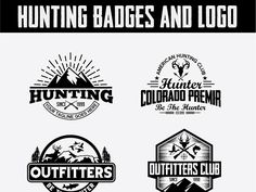 Hunting Vintage Badges and Logos by Logo Templates on Dribbble Hunt Club, Logo Google, Logo Templates, Vintage Designs, Hunting, Logos, Retro, Badges, Fishing