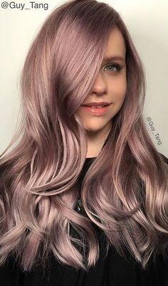 rose gold Beleyage Hair, Dye My Hair, Wavy Hair, Gold Hair Colors, Pinterest Hair, Hair Shows, Rose Gold Hair, Light Hair, Hair Highlights