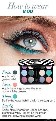 How to wear a MOD eye look