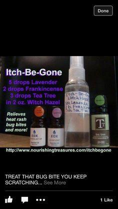 Anti-itch spray with essential oils
