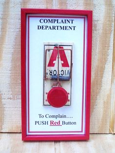 Gag gift - Complaint Department Sign. - more funny things: http://hotfunnystuff.com