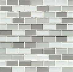 City Glass - Cardiff - 1 X 2 Brick Subway Glossy and Matte Glass Mosaic Combo Mix