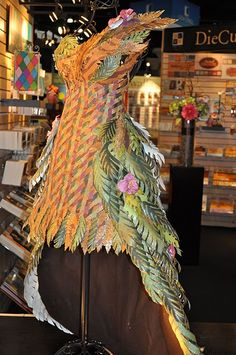 Dress created out of DCWV paper!~ Completely awesome and awe-inspiring! Defies paper law!