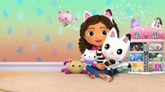 A Casa Mágica da Gabby | Site Oficial Netflix Batgirl, Cat Noir, Cool Animations, Netflix, Hello Kitty, Minnie Mouse, Disney Characters, Fictional Characters, Painting