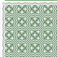 draft image: Threading Draft from Divisional Profile, Tieup: my own original pattern, Draft #61447, 4S, 4T