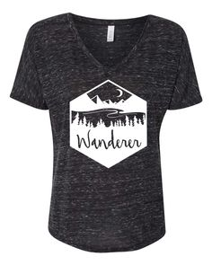 Slouchy relaxed fit T-shirt with Wanderer graphic