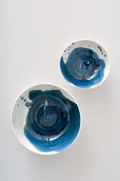 Ink Blot Nesting Bowls by KOROMIKO // artisan wares // handmade in America