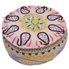 Giallo 100% cotone tessuto grado A Pouf PF-80738 X 38 X 20 CM | Arts of India – Italy