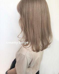 Brown Hair Korean, Korean Hair Color, Asian Hair, Soft Blonde Hair, Beige Hair, V Cut Hair, Hair Cuts, Hair Color Underneath, Human Hair Color
