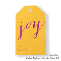 JOY Gift Tags  Holiday Gift Wrap Favor by PicturePerfectPapier