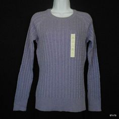 This classic cotton cable knit pullover sweater features a crew neck, raglan long sleeves, and rib knit trim! #MothersDay  www.bevsthisnthatshop.com
