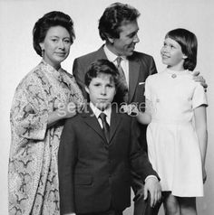 Princess Margaret with the Earl of Snowdon and their children David, Viscount Linley and Lady Sarah Armstrong-Jones