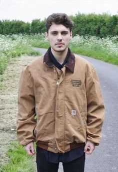 Vintage Brown Carhartt Workwear Jacket from headlock vintage