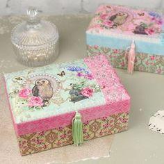 Fabric Owl Jewellery Box - jewellery