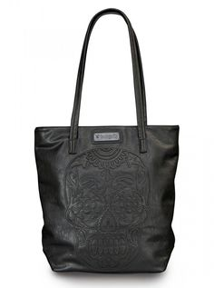 Sugar Skull Tote by Loungefly (Black)