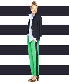 8 Brilliant New Ways To Style Your Stripes #refinery29  http://www.refinery29.com/35196