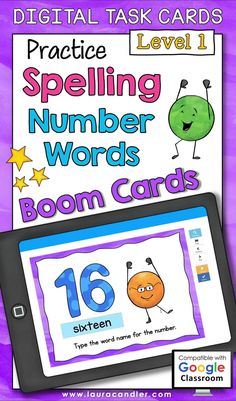 Do your students have trouble spelling number word names? If so, these Boom Cards™ offer a fun way for your students to practice this skill, and they're self-checking, too! The numbers used in Spelling Number Words Level 1 include every number from 0 to 20, plus 30, 40, 50, 60, 70, 80, 90, 100, 1,000 and 1,000,000. This deck of 36 interactive digital task cards is perfect for both classroom use and distance learning! Teacher Hacks, Best Teacher, Teaching Math, Teaching Resources, Active Engagement, Types Of Play, Engage In Learning, Number Words, Task Cards