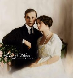 THE LAST WEDDING OF THE ROMANOVS ~ The wedding of this legendary couple came down in history. It was the last wedding of the Romanovs before the First World War. Bisexual, scandalous and very handsome Prince Felix Yusupov fell in love with a beauty he once saw while riding.Later he was invited to The Romanovs and discovered the girl he had seen was a 15-year old Irina, Nikolay II's niece. So their love started.They married in 1914.Irina was given away by her uncle, he presented her 29…