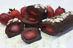 Ρολό σοκολάτας με φράουλα