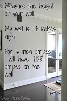Honey We're Home: How to Paint Perfect Wide Stripes Striped Walls Horizontal, Painting Horizontal Stripes, Striped Accent Walls, Painting Stripes On Walls, Diy Wall Painting, Paint Stripes, Wide Stripes, Painting Tips, Painting Techniques