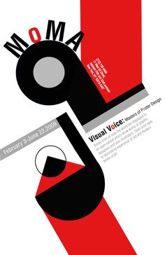 Moma poster by Lauren Wells, via Behance - Redesign in a russian constructivist look of the MoMA poster for Visual voice