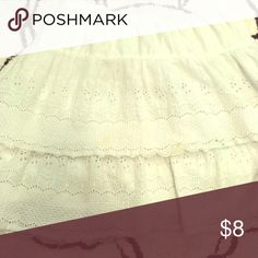 White lace tiered skirt Lace fitted tiered skirt Old Navy Skirts Mini