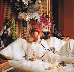 Tilda, orchids, bed.