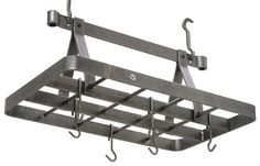 Decorative Rectangle Ceiling Rack W/ Grid Hammered Steel - Enclume Design Products