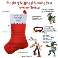 There is an art to stuffing a stocking and if you have a Pokemon Trainer in your house then here are some fun tips.: