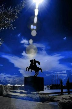 The statue of Alexander the Great,  Thessaloniki, Greece