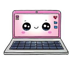 Простые рисунки - Laptop - Ideas of Laptop - Прос Kawaii Girl Drawings, Cute Food Drawings, Cute Animal Drawings Kawaii, Cute Disney Drawings, Doodle Drawings, Cartoon Drawings, Simple Drawings, Arte Do Kawaii, Kawaii Art