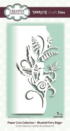 Creative Expressions - Paper Cuts Bluebell Fairy Edger Die-Designed by Cathie Shuttleworth, this edger die measures approximately x Creativ Paper Art, Paper Crafts, Folded Book Art, Book Folding, Egg Carton Crafts, Fairy Crafts, Hand Flowers, Pop Up Cards, Paper Cutting