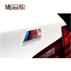 M power Motorsport Metal Logo Car Sticker Rear Trunk Emblem Grill Badge for BMW E46 E30 E34 E36 E39 E53 E60 E90 F10 F30 M3 M5 M6