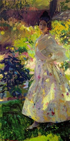 "missfolly: "" Maria Dressed as a Valencian Peasant Girl, by Joaquin Sorolla, 1906 """