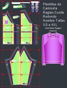 Las plantillas digitales de camiseta manga raglan con cuello redondo en  manga larga para hombre están 7e801b96931c4