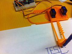 Arduino Gcode interpreter for Mini-CNC by - Thingiverse Xy Plotter, Arduino Cnc, Arduino Projects, Facebook Sign Up, 3d Design, Landline Phone, 3d Printer, Robot, Geek Stuff